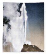 White Dome Geyser Yellowstone Np Fleece Blanket