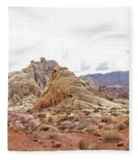 White Domes Panorama Fleece Blanket