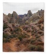 White Domes Trail Fleece Blanket