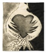 White Dove Art - Comfort - By Sharon Cummings Fleece Blanket
