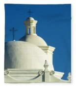 White Dove Of The Desert Fleece Blanket