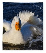 White Duck 1 Fleece Blanket