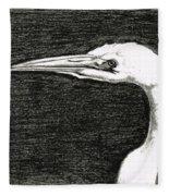 White Egret Art - The Great One - By Sharon Cummings Fleece Blanket