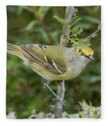 White-eyed Vireo Fleece Blanket