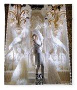 White Feathers Fleece Blanket
