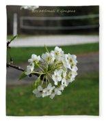 White Florescence Fleece Blanket