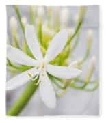 White Flower Fleece Blanket