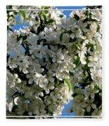 White Flowering Crabapple Tree Fleece Blanket