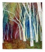 White Forest I Fleece Blanket