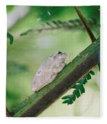 White Frog Fleece Blanket