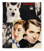 White German Shepherd Art Canvas Print - Suspicion Movie Poster Fleece Blanket