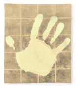 White Hand Sepia Fleece Blanket