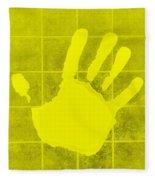 White Hand Yellow Fleece Blanket