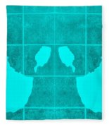 White Hands Aquamarine Fleece Blanket