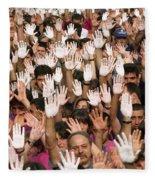 White Hands  - Manos Blancas Fleece Blanket