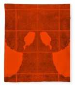 White Hands Orange Fleece Blanket