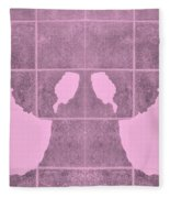 White Hands Pink Fleece Blanket