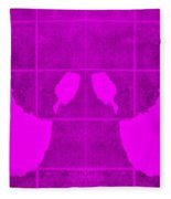 White Hands Purple Fleece Blanket