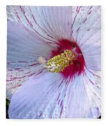 White Hibiscus Beauty Fleece Blanket