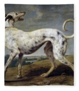White Hound Fleece Blanket