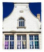 White House In Bruges Fleece Blanket