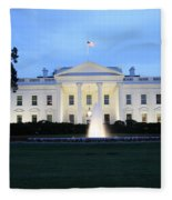 White House In Eveninglight Washington Dc Fleece Blanket