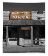 White House Saloon Fleece Blanket