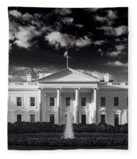 White House Sunrise B W Fleece Blanket