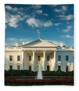 White House Sunrise Fleece Blanket
