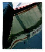 White Hull On The Water Fleece Blanket