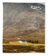 White Hut Under Stob Dearg Fleece Blanket