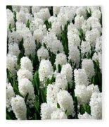 White Hyacinths Fleece Blanket