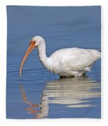 White Ibis Fleece Blanket