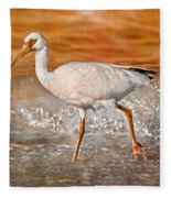 White Ibis Stroll Fleece Blanket