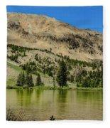 White Knob Mountain Lake Fleece Blanket