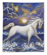 White Lightening Fleece Blanket