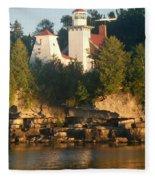 White Lighthouse Fleece Blanket