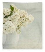 White Lilac In A Cream Jug Fleece Blanket
