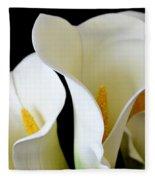 White Lily Trio Fleece Blanket