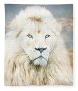 White Lion - Spirit Of Goodness Fleece Blanket