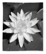 White Lotus 2 Fleece Blanket