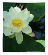 White Lotus I Fleece Blanket