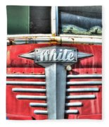White Motor Company Highway Post Office U. S. Mail No 1 Fleece Blanket
