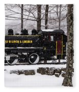 White Mountains Railroad And Train Fleece Blanket