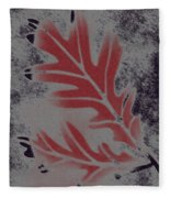 White Oak Leaf Fleece Blanket