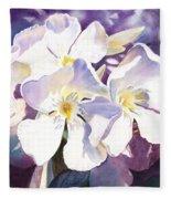 White Oleander Fleece Blanket
