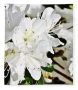 White On White Fleece Blanket