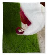 White Orchid Scratched Fleece Blanket