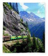 White Pass And Yukon Route Railway In Canada Fleece Blanket