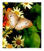 White Peacock Butterfly I I I Fleece Blanket